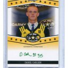DANIEL CARLSON 2013 Leaf Army All-American TOUR AUTO Auburn Tigers KICKER #d/25