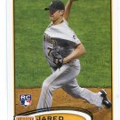 JARED HUGHES 2012 Topps #175 ROOKIE Pirates