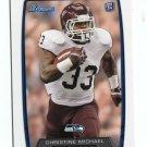 CHRISTINE MICHAEL 2013 Bowman #138 ROOKIE Seahawks TEXAS A&M Aggies