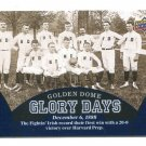 GOLDEN DOME GLORY DAYS 2013 Upper Deck UD Collectible #93 Notre Dame Irish - December 6, 1888