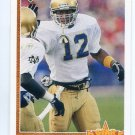 RICKY WATTERS 1991 Upper Deck UD #9 ROOKIE Notre Dame Irish EAGLES 49ers