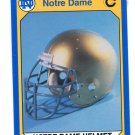 HELMET 1990 Notre Dame Collegiate Collection #11 Notre Dame Irish