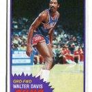WALTER DAVIS 1981-82 Topps #33 North Carolina UNC TAR HEELS Suns