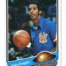 TOBY KNIGHT 1980-81 Topps #29 NOTRE DAME IRISH New York NY Knicks UTAH Utes