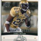 JAMES BUTLER 2005 Upper Deck UD Rookie Debut #158 ROOKIE Giants GEORGIA TECH