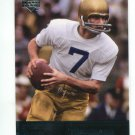 JOE THEISMANN 2011 UD College Football Legends #72 Redskins NOTRE DAME Irish QB