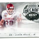 JASON WHITE 2011 UD College Football Legends Decades Best INSERT Heisman OKLAHOMA Sooners QB