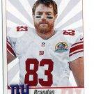 BRANDON MYERS 2013 Panini Sticker #252 New York NY Giants