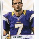 CHRISTIAN PONDER 2013 Panini Sticker #332 Vikings FLORIDA STATE Seminoles QB