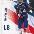 TIMOTHY COLE 2012 Upper Deck UD USA Football #46 Texas Longhorns LB