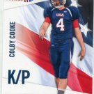 COLBY COOKE 2012 Upper Deck UD USA Football #11 Vanderbilt KICKER