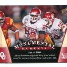 ADRIAN PETERSON 2011 UD College Football Legends Monumental Moments #94 Oklahoma Sooners VIKINGS