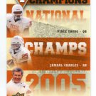 VINCE YOUNG / JAMAAL CHARLES / MACK BROWN 2011 UD College Football Legends NC INSERT Longhorns QB