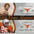 EARL CAMPBELL / JOHNNY HAM JONES 2011 UD College Football Legends All-Time Alumni INSERT Longhorns