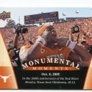 VINCE YOUNG 2011 UD College Football Legends Monumental Moments #94 Texas Longhorns TITANS QB