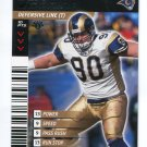 JEFF ZGONINA 2001 NFL Showdown First 1st Edition #414 St. Louis Rams