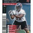 KENYATTA WALKER 2001 NFL Showdown First & Goal #126 ROOKIE Florida Gators BUCCANEERS