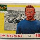 BOB HIGGINS 1955 Topps All-American #33 Rookie PENN STATE