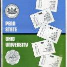 COACH JOE PATERNO 2nd Year College Football Game Program PENN STATE vs. OHIO U. - November 18, 1967