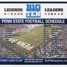 2011-12 Penn State Nittany Lions Football Schedule MAGNET 6x9