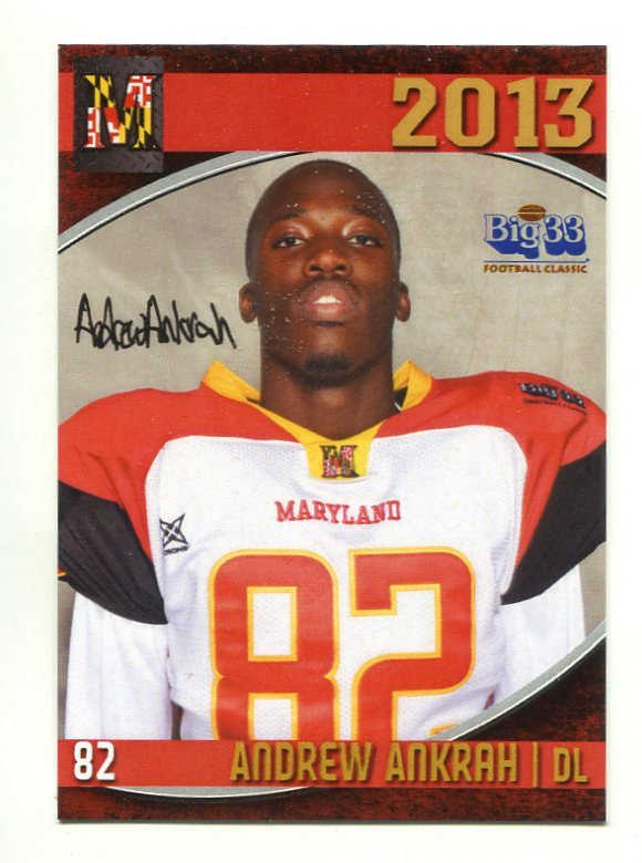 sports shoes 77142 d1683 ANDREW ANKRAH 2013 Maryland MD Big 33 High School card JAMES ...
