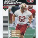 JEREMY NEWBERRY 2002 NFL Showdown #77 ROOKIE 49ers