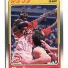 KEVIN WILLIS 1988 Fleer #6 Hawks MICHIGAN STATE Spartans