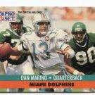 DAN MARINO 1991 Pro Set #210 Pitt Panthers DOLPHINS QB