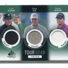 GARY PLAYER / ERNIE ELS / RETIEF GOOSEN 2013 SP Game-Used Edition Golf Triple SHIRT JERSEY