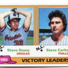 STEVE CARLTON / STEVE STONE 1981 Topps LL #5 Philadelphia Phillies