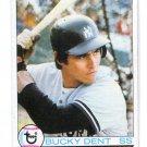BUCKY DENT 1979 Topps #485 New York NY Yankees