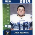 JOEY JULIUS 2014 Pennsylvania PA Big 33 High School card PENN STATE Kicker