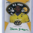 JOSHUA JOSH FRAZIER 2014 Leaf Army All-American Tour AUTO Alabama Crimson Tide DT #d/25