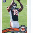 A.J. GREEN 2011 Topps SP PHOTO VARIATION #151 ROOKIE Georgia Bulldogs BENGALS WR