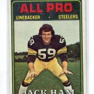 JACK HAM 1974 Topps #137 2nd YEAR Steelers PENN STATE Nittany Lions C