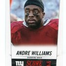 ANDRE WILLIAMS 2014 Score #336 ROOKIE New York NY Giants BOSTON COLLEG