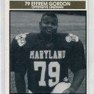EFFREM GORDON 1992 Big 33 Maryland MD High School card FORK UNION OL