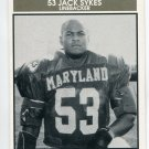 JACK SYKES 1992 Big 33 Maryland MD High School card HOWARD LB