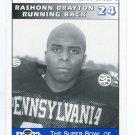 RASHONN DRAYTON 1995 Big 33 Pennsylvania PA High School card ALLENTOWN CENTRAL CATHOLIC HS RB