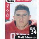 MATT EDWARDS 1998 Ohio OH Big 33 High School card MIAMI of OHIO DL