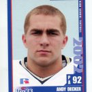ANDY DECKER 2002 Pennsylvania PA Big 33 High School card BUCKNELL Berwick HS