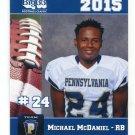 MICHAEL McDANIEL 2015 Pennsylvania PA Big 33 High School card TEMPLE Owls RB