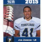 JAN JOHNSON 2015 Pennsylvania PA Big 33 High School card PENN STATE LB