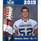 MICHAEL AMES 2015 Pennsylvania PA Big 33 High School card PENN HILLS HS