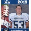 TYLER HUDANICK 2015 Pennsylvania PA Big 33 High School card CENTRAL FLORIDA