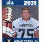 ZACHARY VENESKY 2015 Pennsylvania PA Big 33 High School card RUTGERS OL