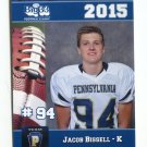 JACOB BISSELL 2015 Pennsylvania PA Big 33 High School card PARKLAND HS Lafayette