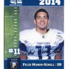 FELIX MANUS-SCHELL 2014 Pennsylvania PA Big 33 High School card OLD DOMINION