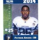 PATRICK AMARA 2014 Pennsylvania PA Big 33 High School card PITT Panthers DB