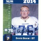 DAVID SHAW 2014 Pennsylvania PA Big 33 High School card MARYLAND Terps DT
